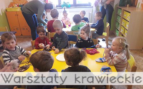 warsztaty krawieckie w przedszkolu iskierki krzeszowice